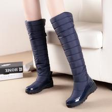 2016 recién llegado de mantener las botas de nieve plataforma de moda de piel muslo botas hasta la rodilla botas de invierno cálido para para barcos zapatos(China (Mainland))