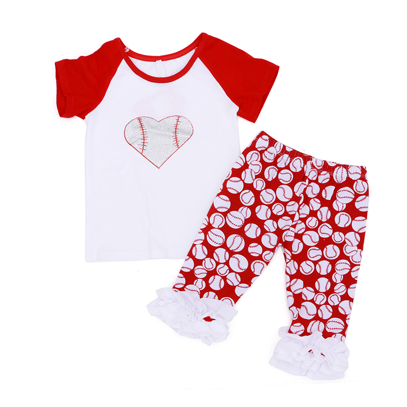 2016 Toddler Girl Fashion Outfits Baseball Summer Girls Boys Clothes Baby Boy Clothing Set Baby Girl Clothes Boutique Outfits(China (Mainland))