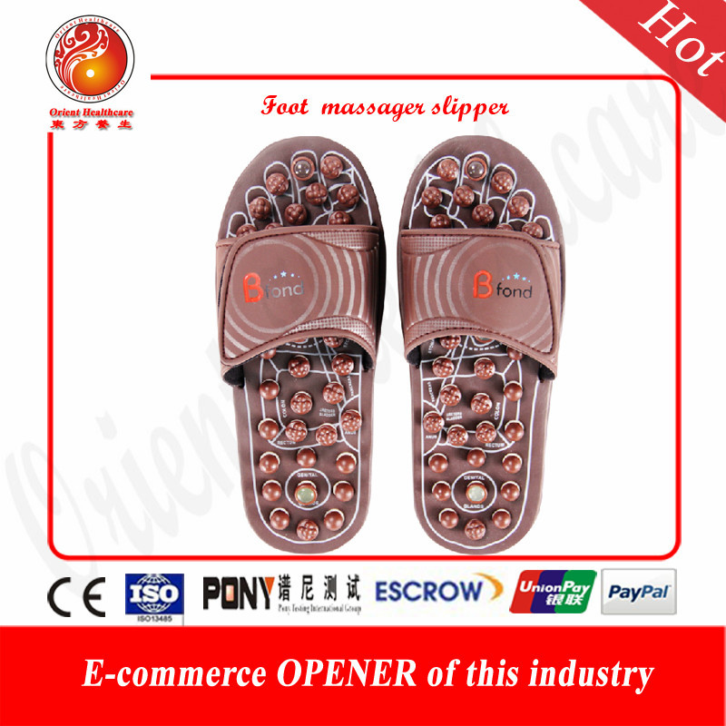 Foot shoes massage slippers Cobblestone agate Jade stone massage slippers massage sandals Magnetic acupuncture Massage slipper(China (Mainland))