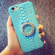 New arrival Luxury Wrist Watch Phone Case For iPhone 6 6S/6p 6s plus/5 5s Back Cover Free Shipping