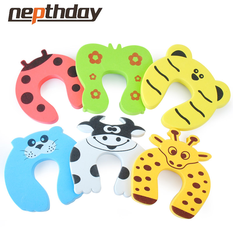 Baby Animal Cartoon corner guards Jammers Stop Door stopper finger door lock holder lock Safety Guard Finger Protect 10-001(China (Mainland))