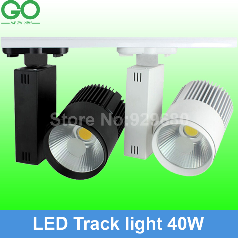 free ship(10pcs) LED 40W Track Light rail COB Rail Light Equal 400w Halogen Lamp Spotlight track lamp 110v 120v 220v 230v 240v(China (Mainland))