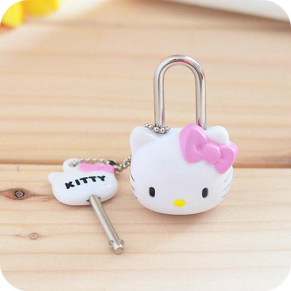 Kawaii Hello Kitty Mini diary lock.Cartoon small Padlock Drawer Handles Locks for Zipper Bag Backpack Handbag Suitcase Drawer(China (Mainland))