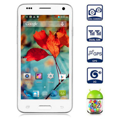 In Stock Star W800 3G WCDMA Smart phone Android 4.4 MTK6582 Quad Core 1GB 4GB 4.5'' 854 *480 Touch Screen Mini Cell Phone(China (Mainland))