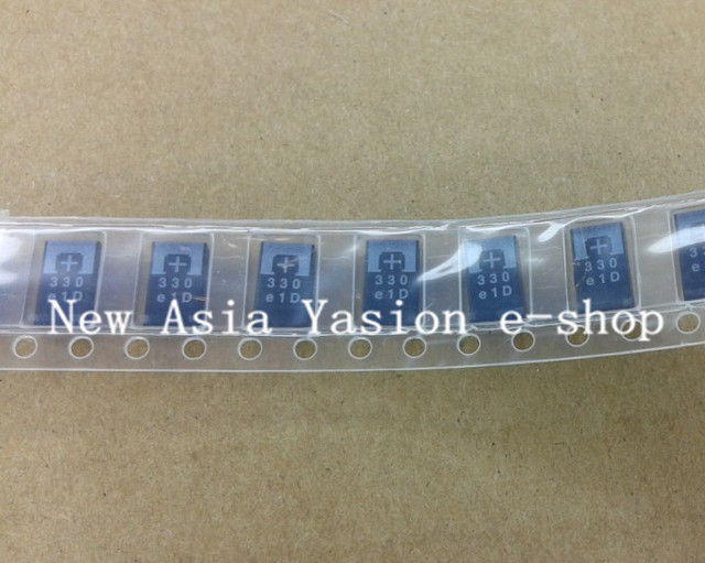 50pcs SMD tantalum polymer capacitors 2R5TPE330M9 2.5V 330UF POSCAP, polymer capacitance ENGINEERING OF