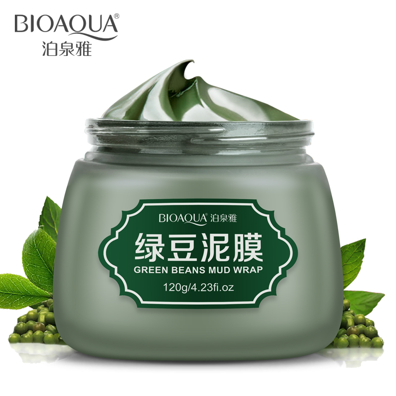 BIOAQUA Green Bean Mud Wrap Facial Mask Women Winter Moisture Oil Control To Acne Deep Cleansing Mask Remove Blackhead Free Ship(China (Mainland))