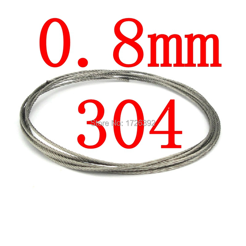 0.8mm 7x7 Authentic 304 Stainless Steel Cable Wire Rope -- T304 SS,standing weight 46kgs(China (Mainland))