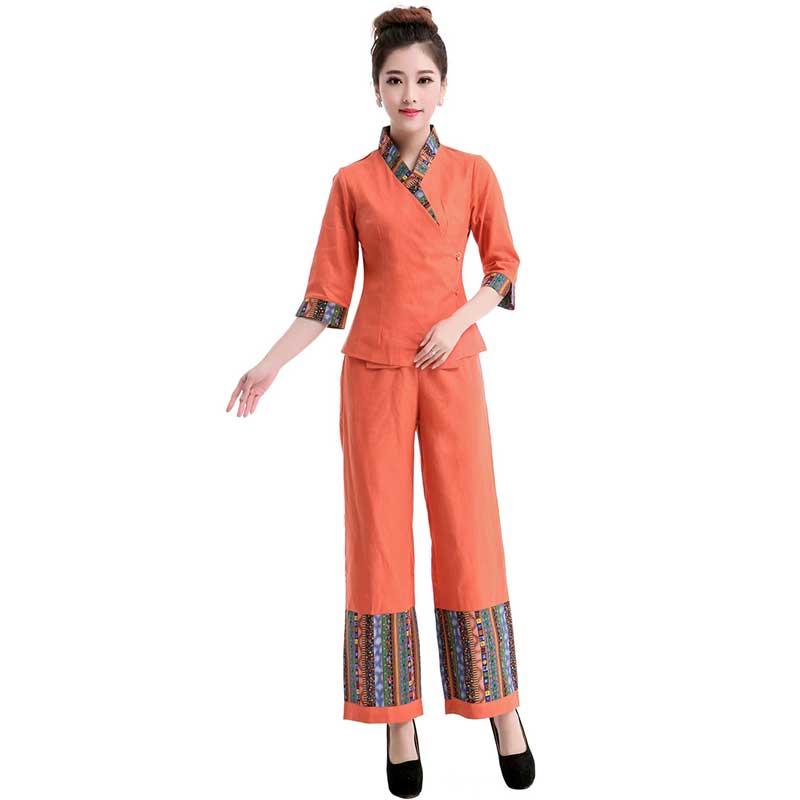 2016 Autumn Thai style Massage female medical white uniforms beauty salon nurse uniforms SPA work wears plus size for medical(China (Mainland))