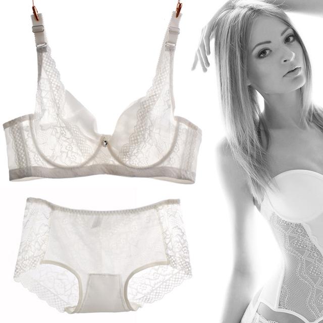 Сексуальная виктория нижнее белье кружева тонкий push up bra set см через бюстгальтеры ...
