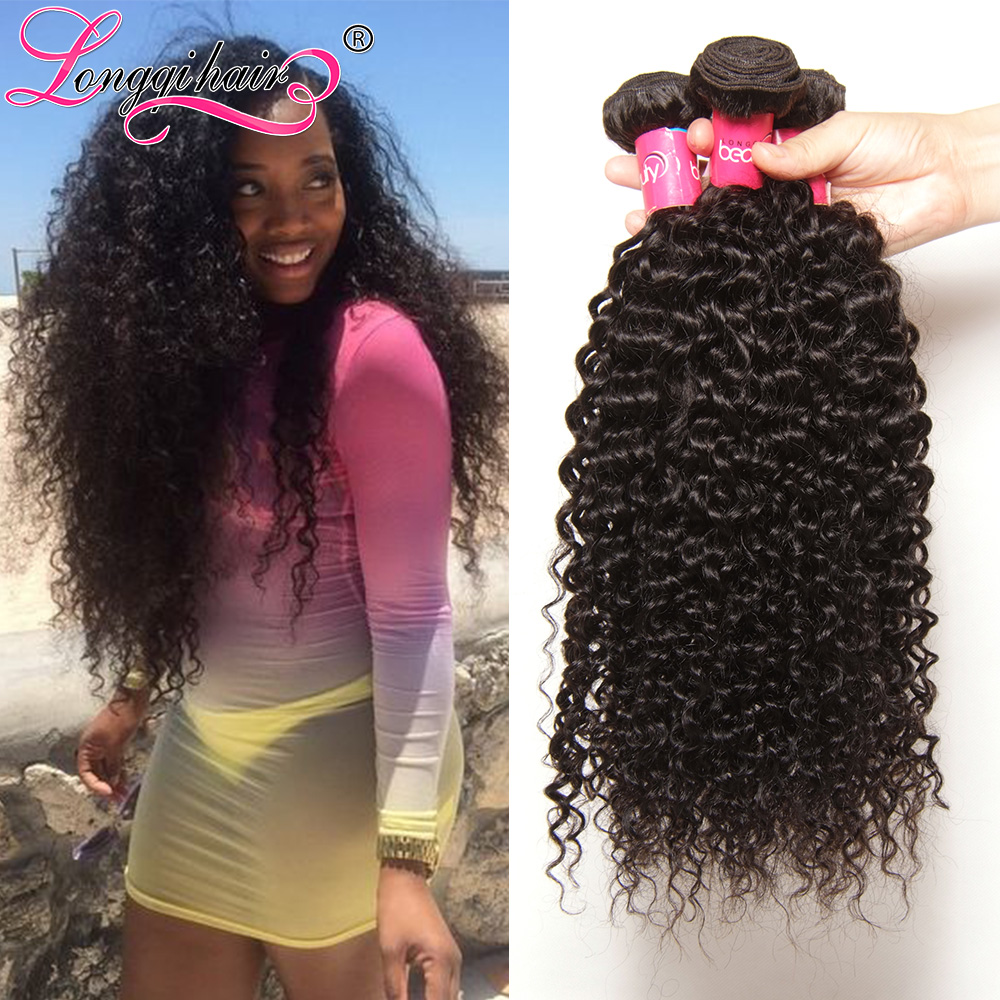 Pretty Peruvian Curly Hair Weave lot 7A Unprocessed Virgin bundles 100% Kinky - Xuchang Longqi Beauty Products Co., Ltd. store