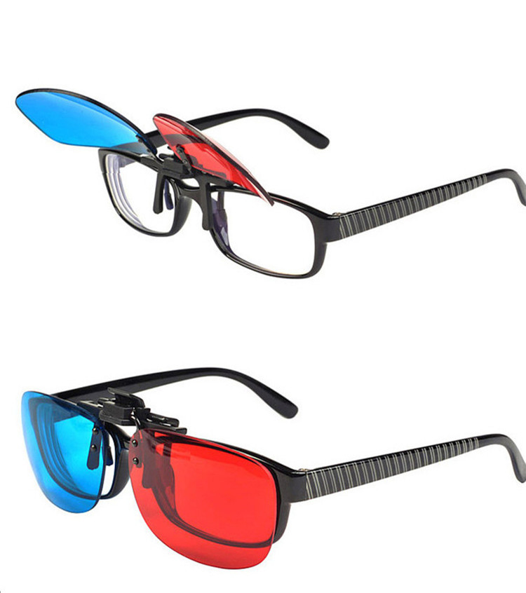 New Myopia Clip On Prescription Passive 3D Glasses Professional Direct Anaglyph Glasses For Movie Game And 3D TVs Red&Blue(China (Mainland))
