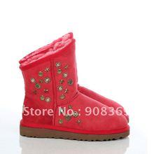 Classic 5829 Top quality 100 Genuine Australia sheepskin winter snow boots Down shoe 9 colors