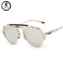 2016 new women's High quality women brand designer sunglasses round mirrored shades cat eye glasses TG1519 FREE SHIPPING
