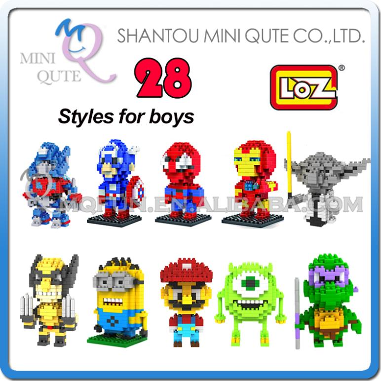 Детское лего Qute LOZ nano 3D 00001 детское лего nano loz 9168