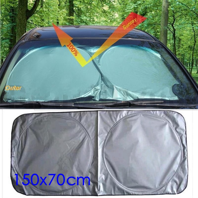Auto Front Window Sun Shade Car Windshield Visor Cover Block Sunshade Foldable Cover 150*70cm(China (Mainland))