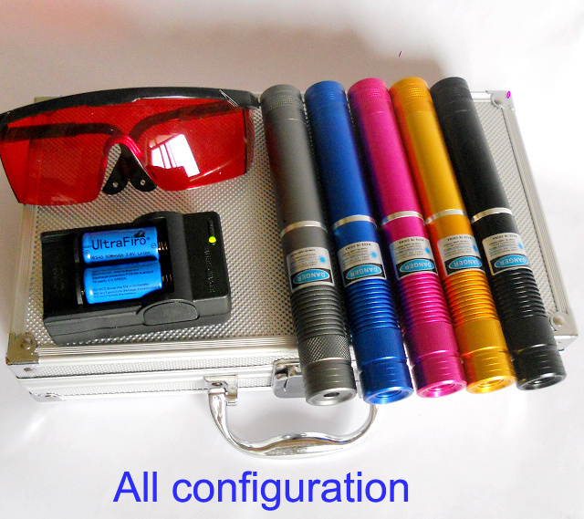 2000mw 450nm 5 Kinds Of Shell Colors Focusable Blue Laser Pointer