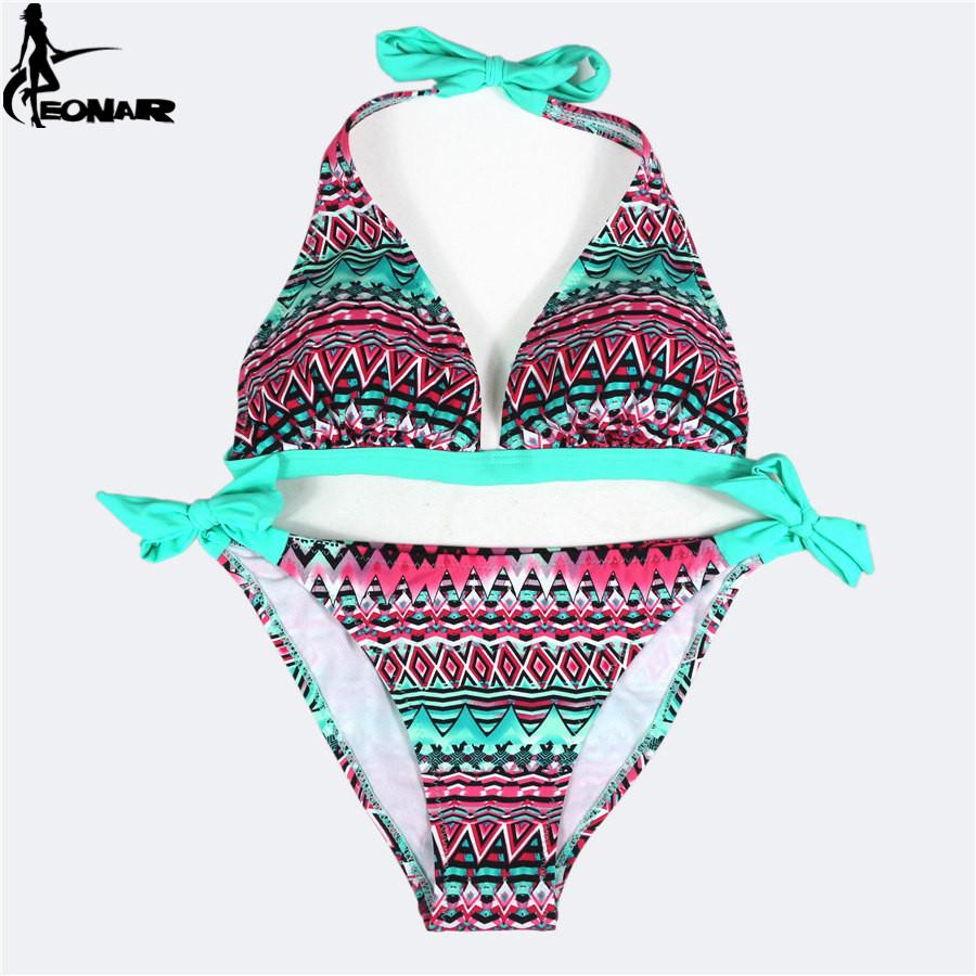 Swimsuit 2016 Bandage Swimsuit Print Floral Bikini Set Sexy Bathing Suits Brazilian Bikinis Women Swimwear Beach Wear Biquini(China (Mainland))