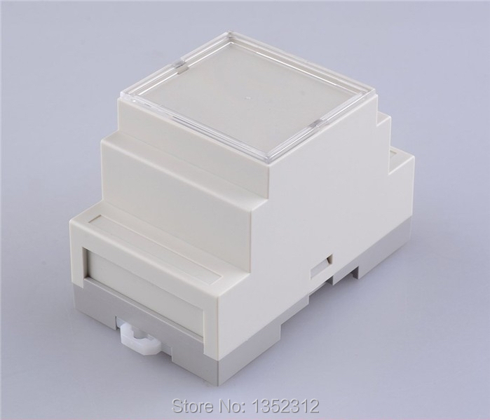 87*60*53mm 4pcs/lot industry switch box din rail enclosure small plastic enclosure control abs electronics enclosures(China (Mainland))