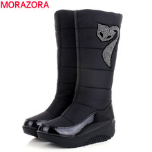 Plus size 35-44 Hot 2016 new Women Winter Boots warm Cotton Down shoes waterproof boots snow boots fur platform knee high boots(China (Mainland))
