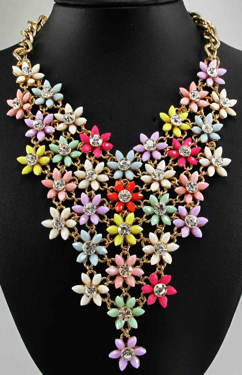 Newest long handmade Gorgeous Fashion Necklace Jewelry crystal ra Department Statement Necklace Women Choker Necklaces Pendants(China (Mainland))