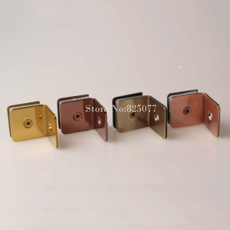 Bathroom clip glass fitted clip 304 stainless steel glass clamp partition code 90 degree wall to glass fixed HM163(China (Mainland))