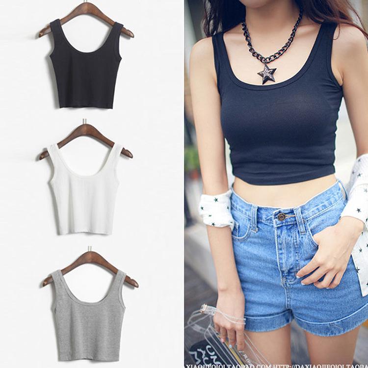Hot Sale 2015 New Fashion Women Pure Color Slim Render Tank Top Vest Women Summer Style