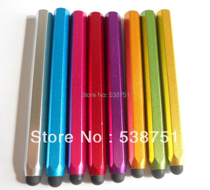 FREE Shipping by FEDEX 100pcs/lot Metal hexagonal stylus pencil for Pad PHONE 6(China (Mainland))