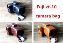 Free shipping PU Leather Camera Case Cover for Fujifilm Fuji XT10 X-T10 XT-10