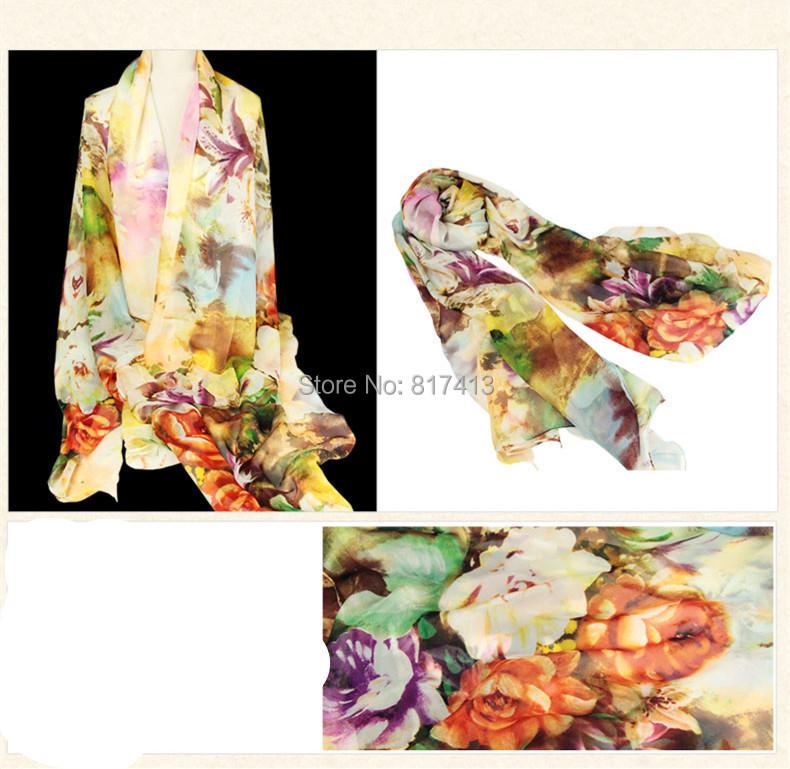 Gorgeous designer silk big square 100% pure natural mulberry scarf 130cm x 200cm B404(China (Mainland))