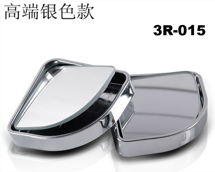 FREE SHIPPING TWO-PIECE pack rotatable 2 Side Wide Angle Round Convex Car Vehicle Mirror Blind Spot Auto RearView(China (Mainland))