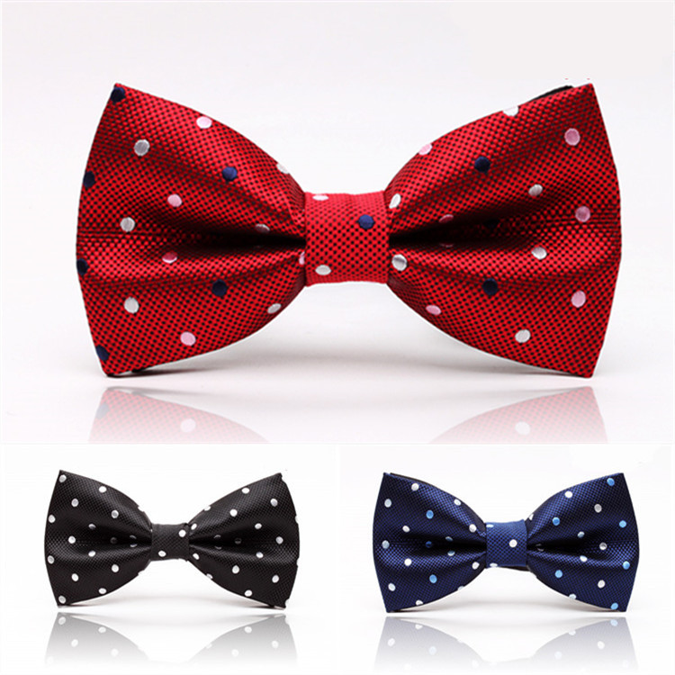 Free Shipping Male Colorrful Fashion Adjustable Dots Gravata Bowtie Party Wedding Cravat Butterfly Classic Bow Tie