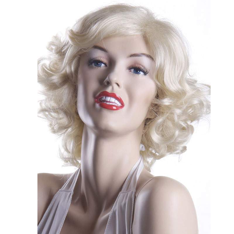 European style personality the new Marilyn Monroe female short curly wig 0211 masquerade(China (Mainland))