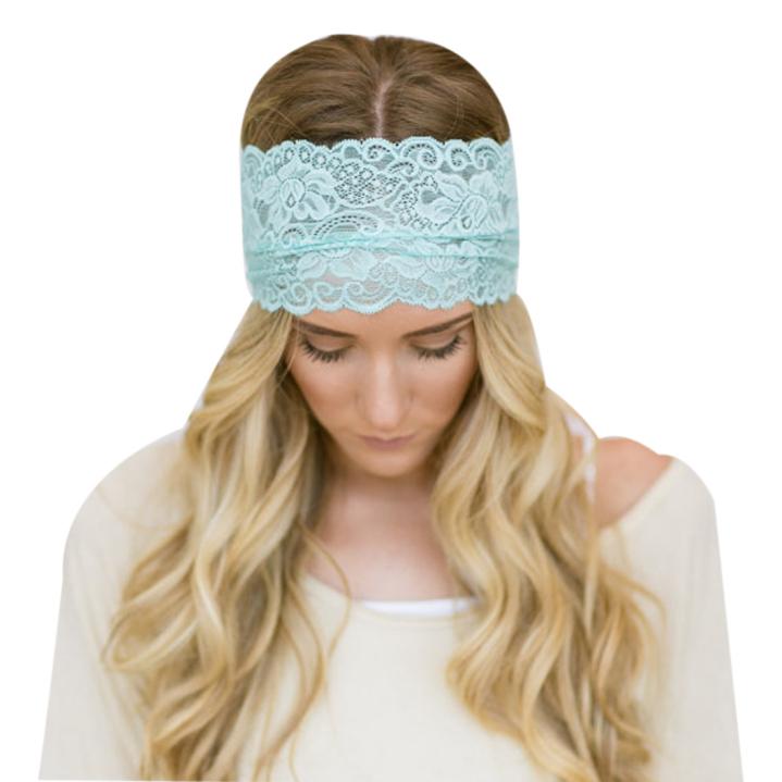 Amazing 2015 New Women Fashion Lace Wide Headband Bohemian Headwrap Accessories(China (Mainland))