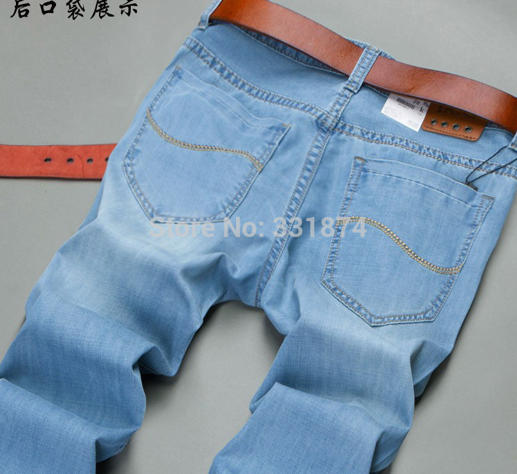 2015 Mens jeans Fashion Brand Jeans Large sales of spring summer Jeans Fashion Slim Jeans new blue dress, mens trousersОдежда и ак�е��уары<br><br><br>Aliexpress