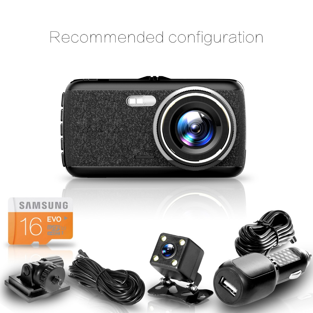 ADDKEY car dvrs 4 inch Hidden cam camera Novatek 96655 full hd 1080P G-sensor dash cam night vision 160 degree dual lens car dvr
