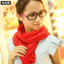 New Fashion 2015 Women Scarf Vintage Ladies Solid Color Black Red White Scarves Warp shawl female