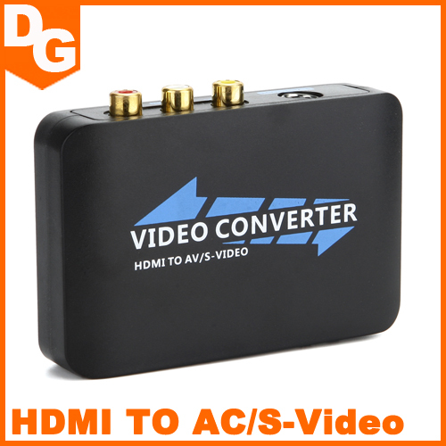 2015 Latest 1080p HDMI To AV/S Video Adapter S-Video, CVBS Video Converter Free Shipping(China (Mainland))