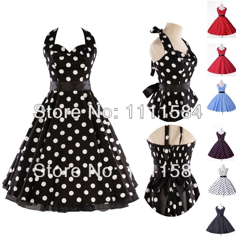 Free Shipping Swing Dress Retro Vintage Rockabilly Wedding