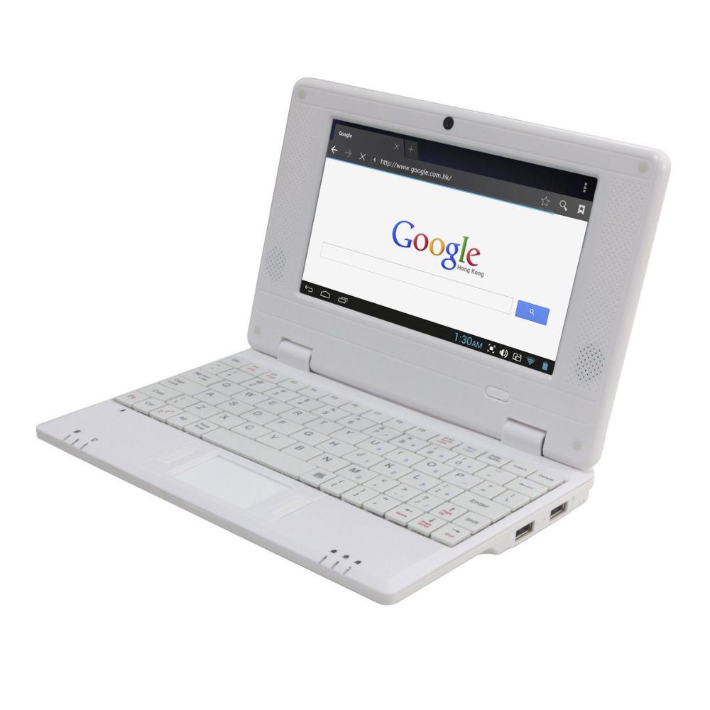 Новый Android 4.2 OS насыщенный белый мини ноутбук 7 дюймов нетбук планшет пк, WIFI камера, facebook, youtube, Skype