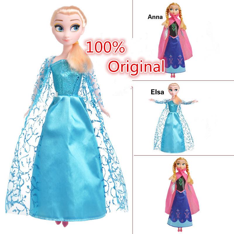 2015 Fashion Princess Elsa Anna Doll Snow Queen PVC Doll Children Girls Toys Birthday Christmas Gifts Hot Sale<br><br>Aliexpress