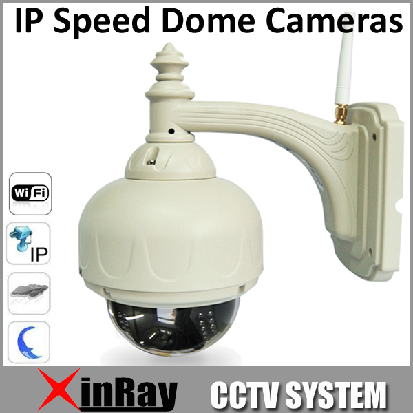 Free Shipping New Arrival !! IP Speed Dome Wifi Wireless PTZ IR Cut Waterproof Outdoor IP Speed Camera 4mm Lens AP006(China (Mainland))