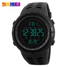 Buy SKMEI Men Sports Watches Countdown Double Time Watch Alarm Chrono Digital Wristwatches 50M Waterproof Relogio Masculino 1251 for $9.99 in AliExpress store