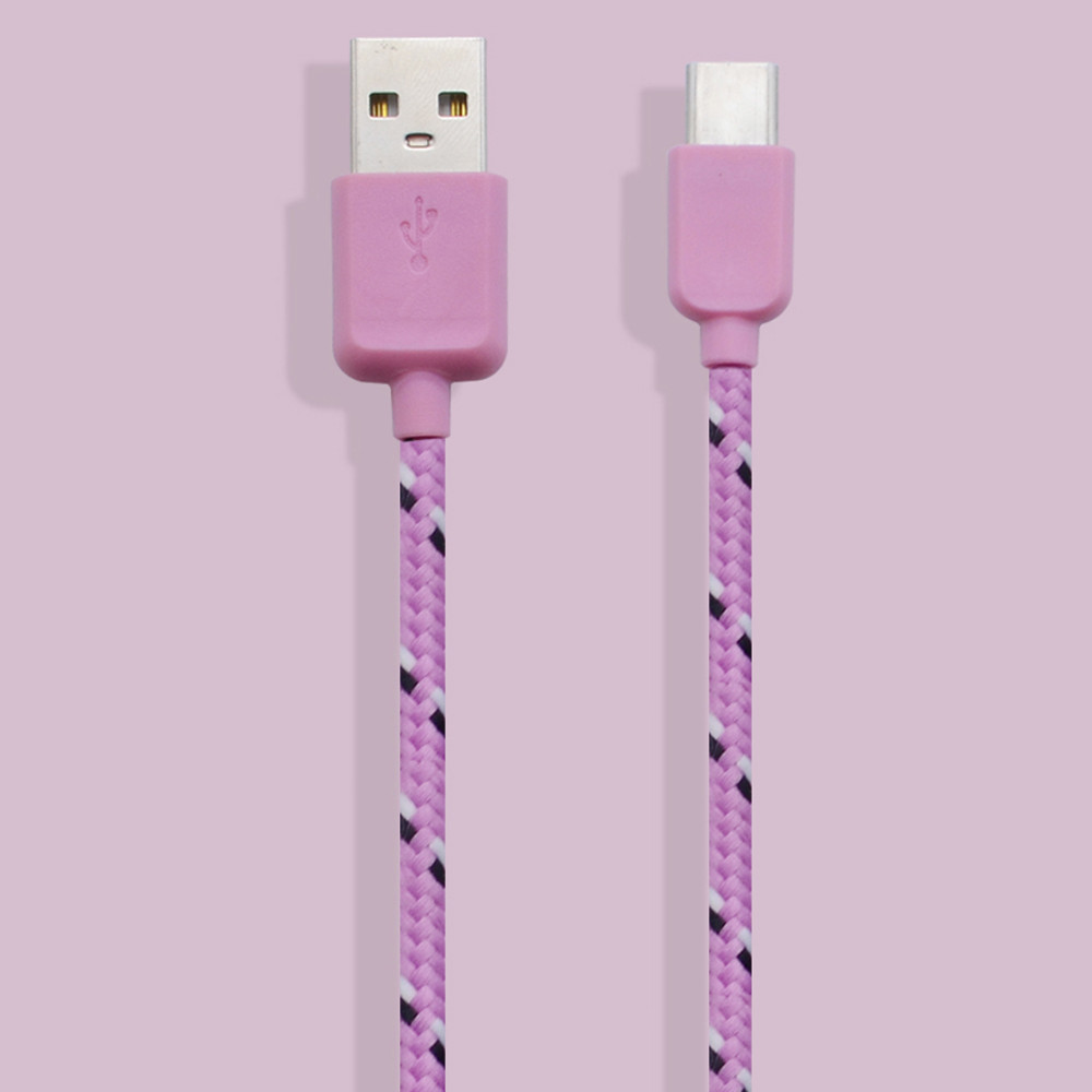 Woweinew Genuine Nylon Braided USB 3.1 Type-C Data Sync Charger Charging Cable 1M