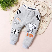 2014 new children's clothing boys fall and winter plus velvet pants casual trousers adorable dirt can sack C3(China (Mainland))