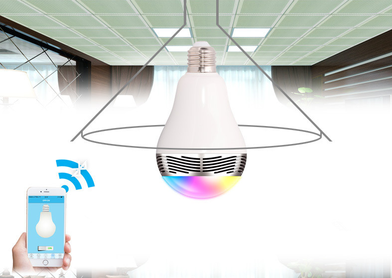 Original Bluetooth 4.0 Phone Control Colorful Music LED Light Bulb Bluetooth Speaker 2 IN 1 Music Bubble with E27 socket(China (Mainland))