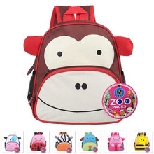 2015 Children school bags animal character canvas mochila infantil kids school bag children backpacks(China (Mainland))