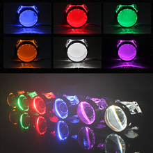 Buy 2.5 3.0 inch projector lens LED demon eyes Bi xenon projector lens HID Bixenon Projector Lens Headlight CCFL Angel Devil Demon for $9.40 in AliExpress store