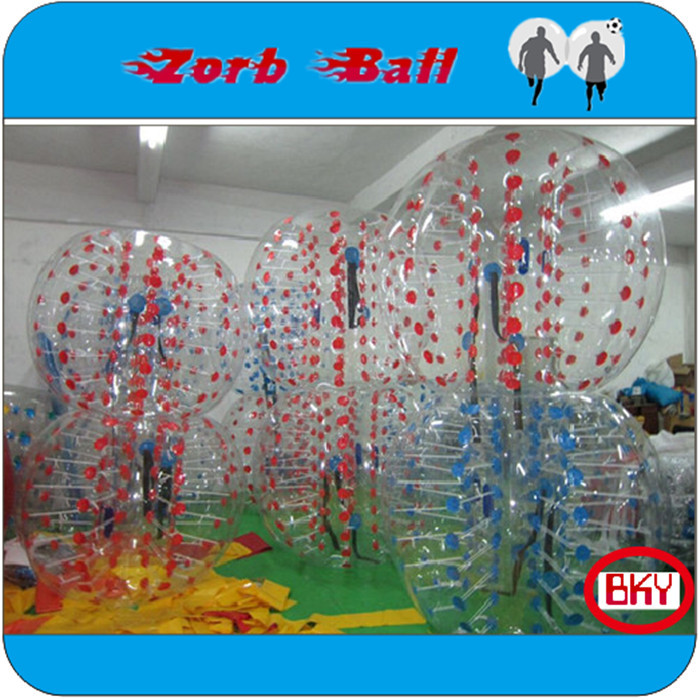NEW ARRIVAL For Rental Business 1.5m 1.0mm TPU zorb,bubble soccer,inflatable football bubble suit,Bumper Ball,,Loopy Ball(China (Mainland))