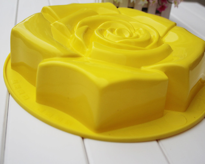 """9"""" Rose Silicone Pie dishes pans Baking Mold Muffin Cake Biscuit Tray for baking Home Nonstick bakeware(China (Mainland))"""