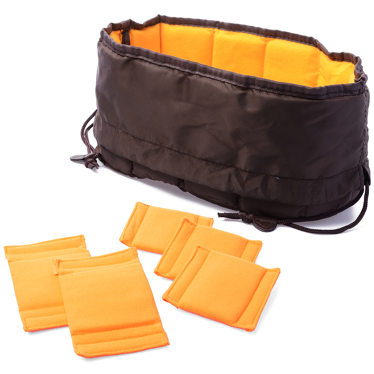 Flexible Camera Insert Partition Padded Bag Case for Canon DSLR SLR Lens LF381(China (Mainland))